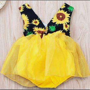 Sunflower dress (romper)